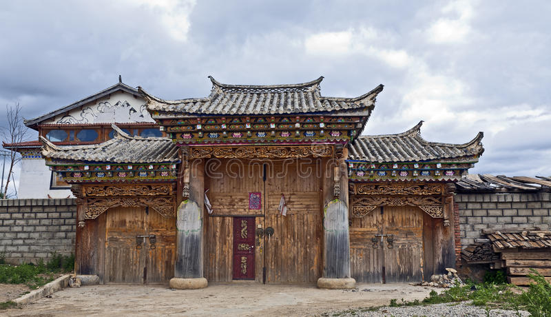 Download Typical Tibetan Style House Stock Photo - Image: 20005878