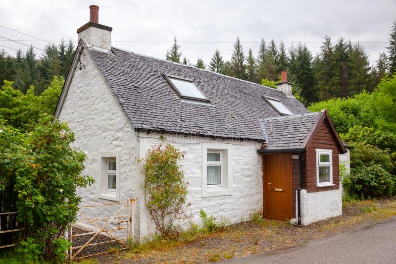 Typical white country house in Scotland UK royalty free stock images