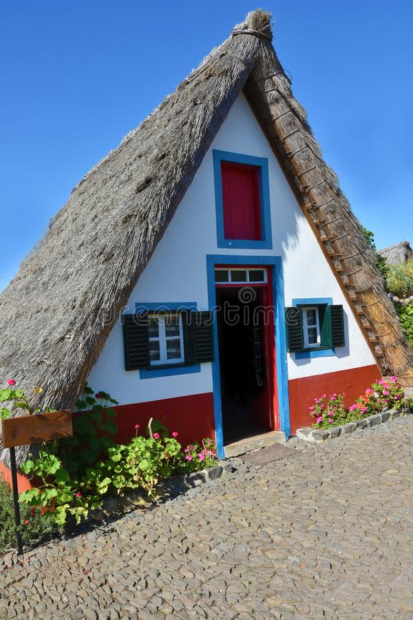 Typical traditional Madeira house royalty free stock image