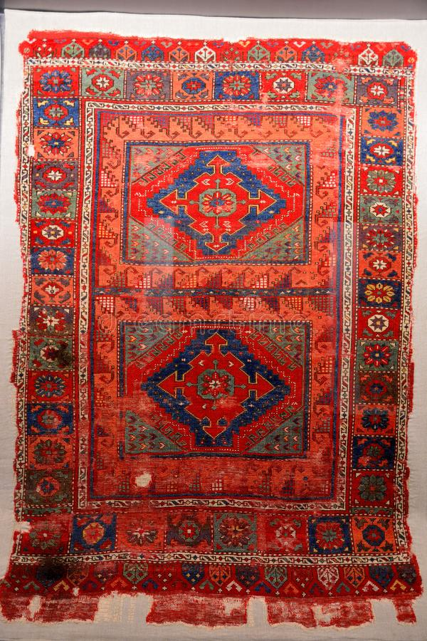 Typical Turkish carpet from Central Anatolia, dating from 16th century stock images