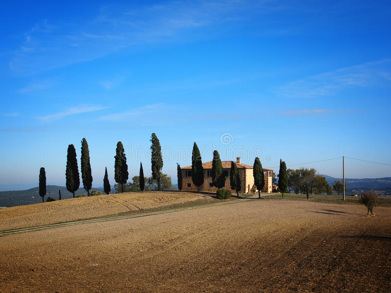 Download Typical Tuscan house stock image. Image of typcial, cypresses - 18283165