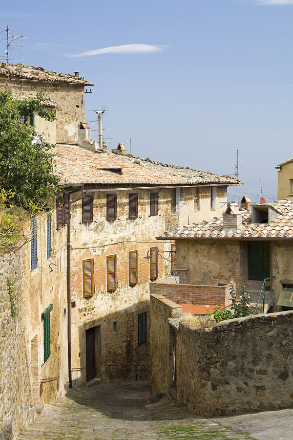 Typical tuscan village. Tuscany, Italy stock images