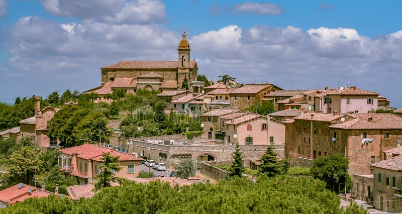 Typical Tuscany village stock photo