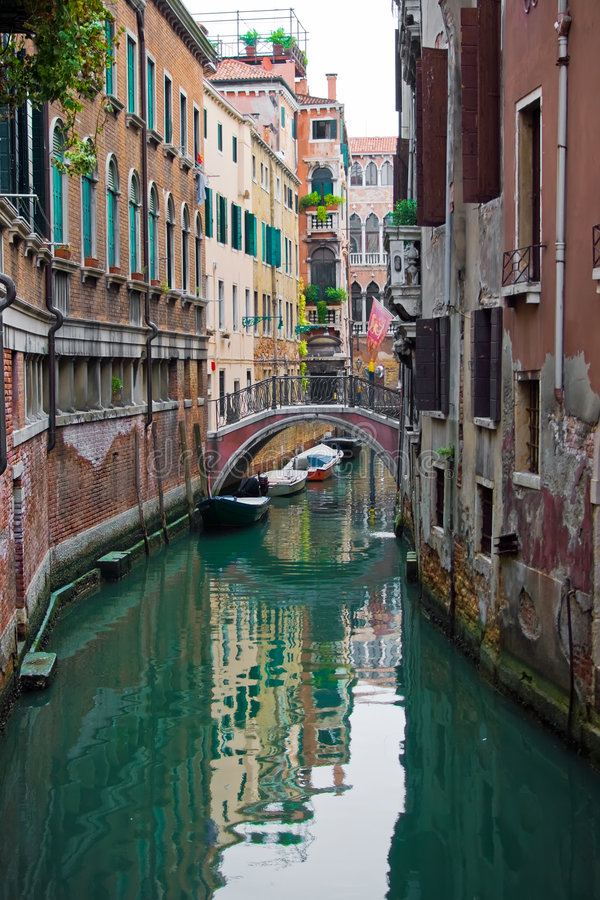 Typical Venice canal royalty free stock image