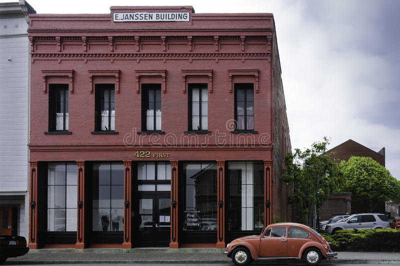Typical Victorian style red building royalty free stock photography