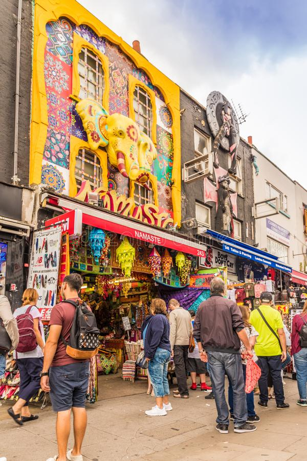 A typical view in Camden Market london royalty free stock image