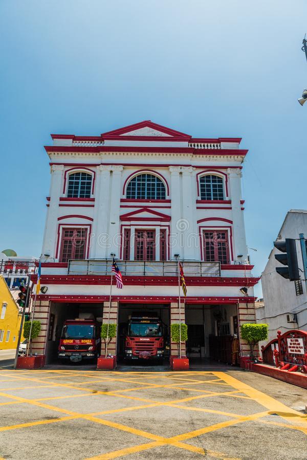A typical view in George town in Malaysia royalty free stock photography