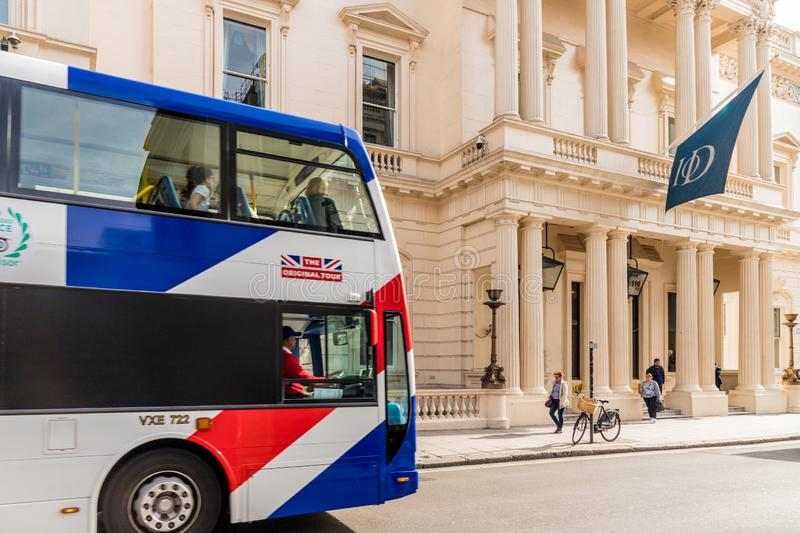 A typical view in London. London October 2018. A view of the institute of Directors building in London stock images