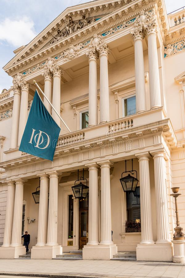A typical view in London. London October 2018. A view of the institute of Directors building in London stock photo