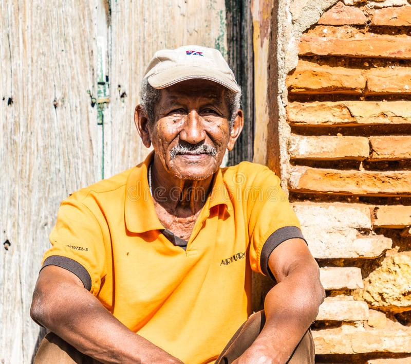 A typical view in Trinidad in Cuba royalty free stock images