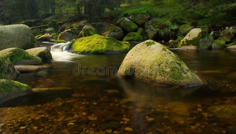 Download Typical View Of Vydra Stream Stock Image - Image: 7611923