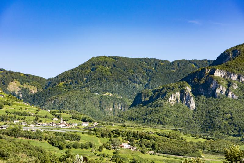 Typical village South Tyrol stock photography
