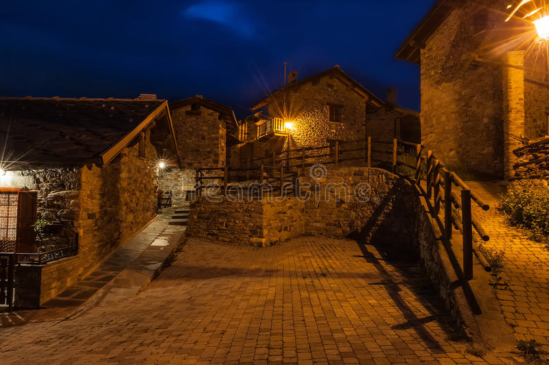 Download Typical Village Street In The Province Of Aosta Valley In Italy Stock Photo - Image: 28640180