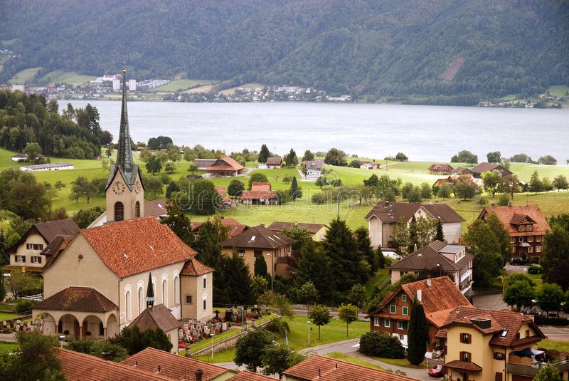 Typical village in Switzerland. Europe stock images