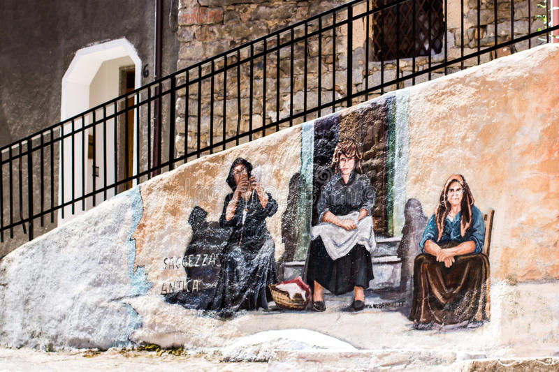 Typical wall paintings on the stock photos