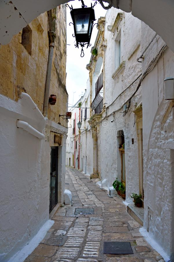Village of Ostuni, Puglia, Italy royalty free stock photography