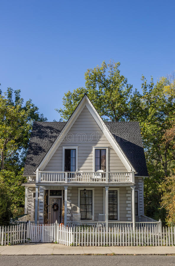 Typical wooden American small town house of Nevada city royalty free stock photography