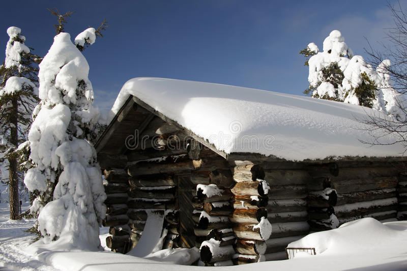 Finnish House At A Sunny Winter Day Stock Image Image