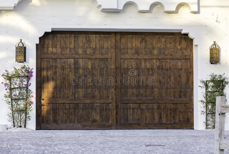 Typical wooden garage in Florida stock photography