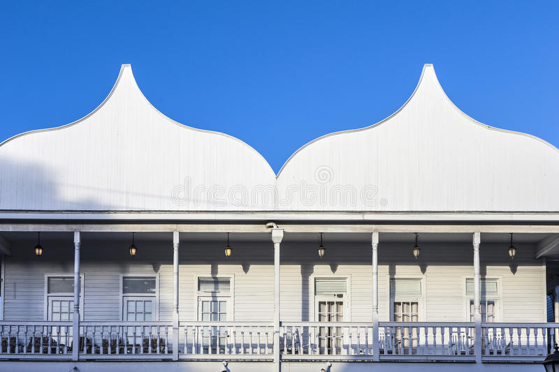 Typical wooden historic architecture from early last century dow stock photos