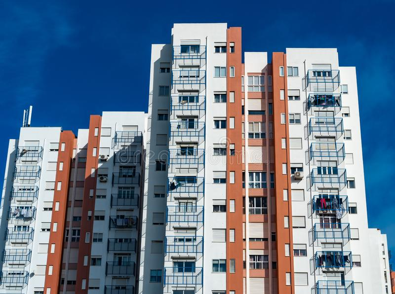 Typicall colorfull house in the suburb of lisbon royalty free stock photos