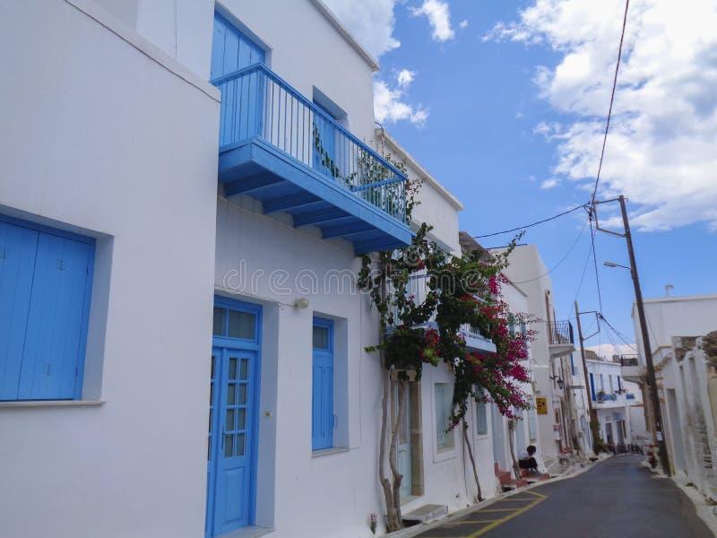 typicall domy w małej wiosce w Greece zdjęcie stock