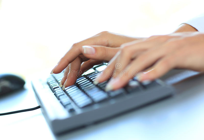 Download Typing female hands stock photo. Image of object, fingernail - 26530048