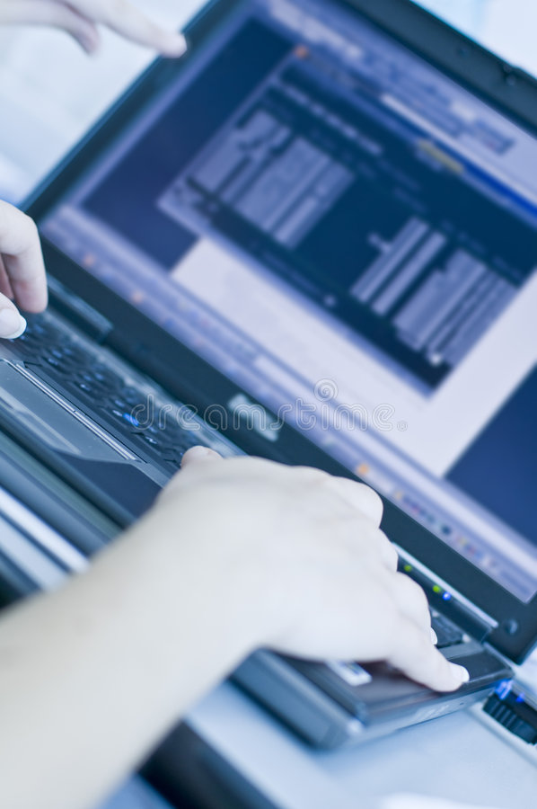 Typing Hands Stock Photography