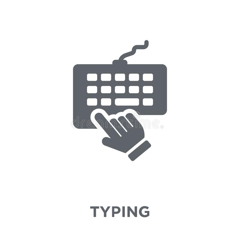 Typing icon from collection. stock illustration