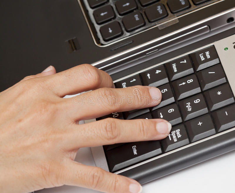 Download Typing on keyboard. stock image. Image of finger, information - 24080637