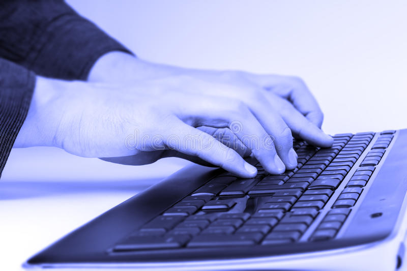 Typing On A Keyboard Stock Images