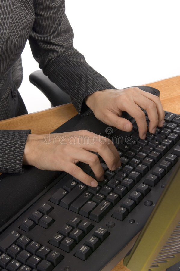Free Typing On A Keyboard Stock Images - 529604