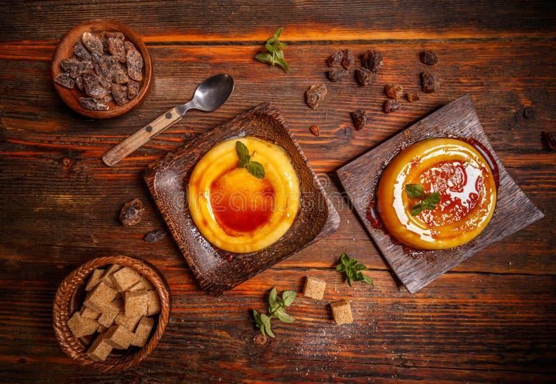 Typisch Catalaans dessert stock afbeelding
