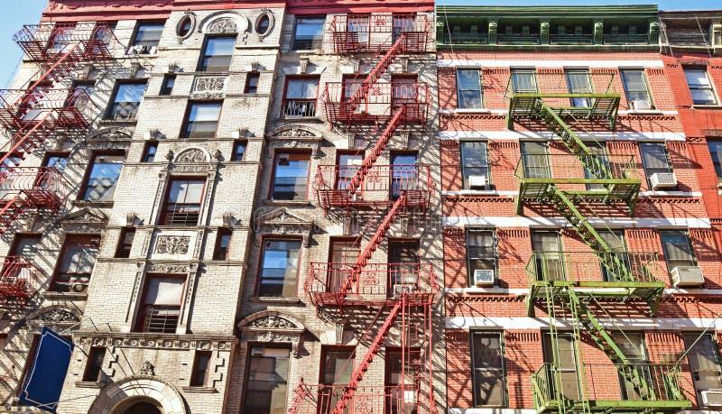 Typisch gezicht van woonflat in Manhattan New York royalty-vrije stock foto's
