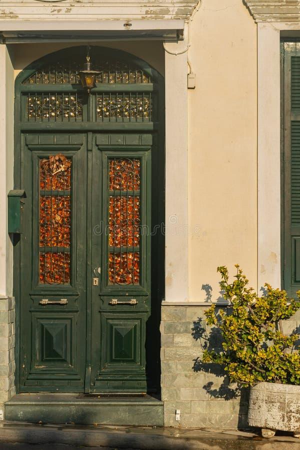 Typisch Grieks huis in Samos Eiland, Griekenland stock afbeelding