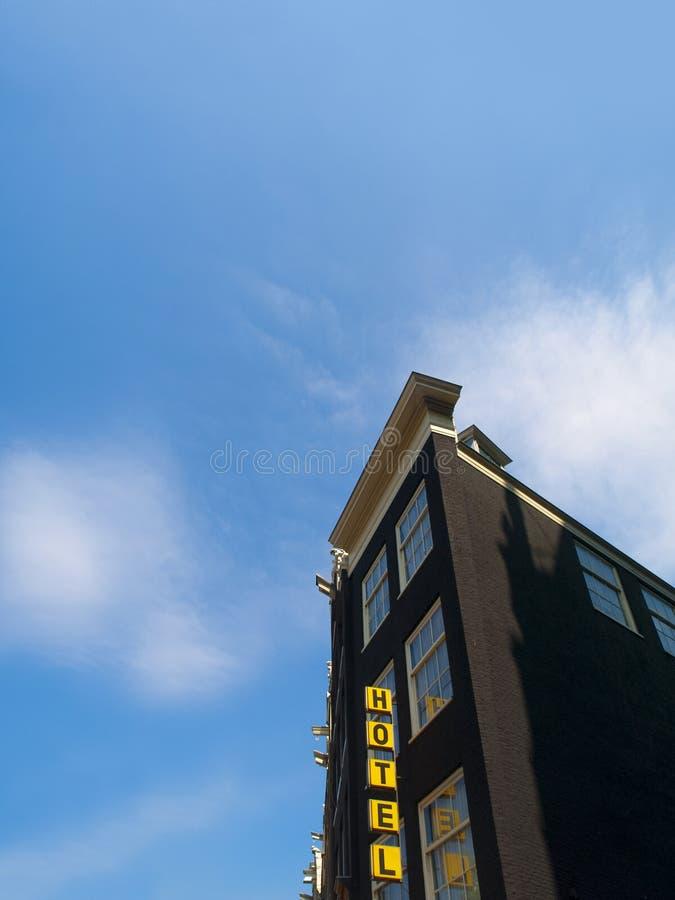 Typisch Hotel in Amsterdam stock afbeeldingen