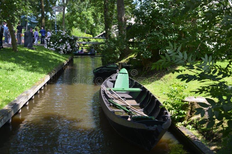 Typisch huis in giethoorn Holland stock afbeelding