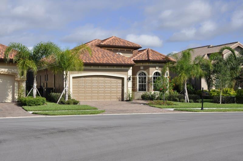 Typisch modern huis in Florida royalty-vrije stock foto