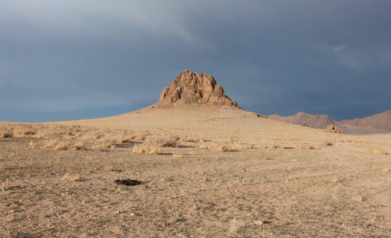 Typisch Mongools landschap royalty-vrije stock fotografie