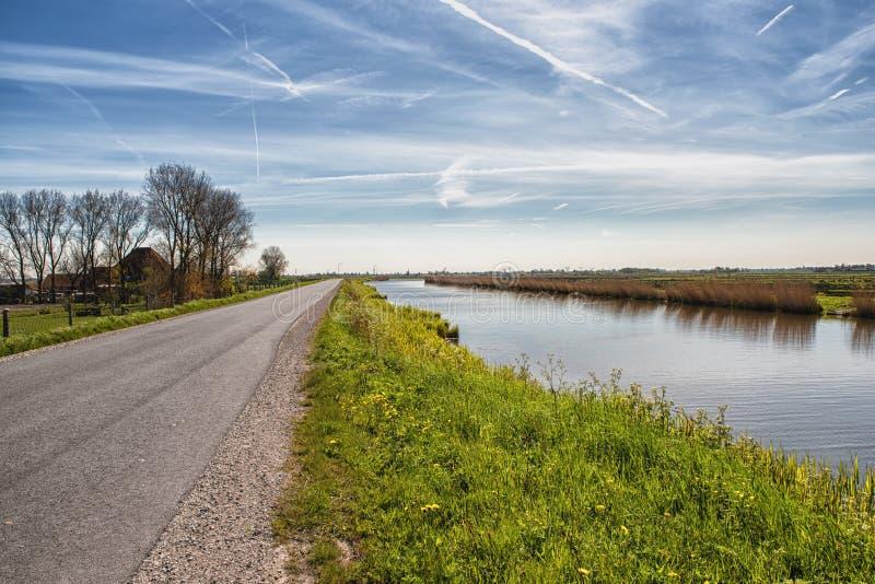 Typisch Nederlands landschap stock afbeeldingen