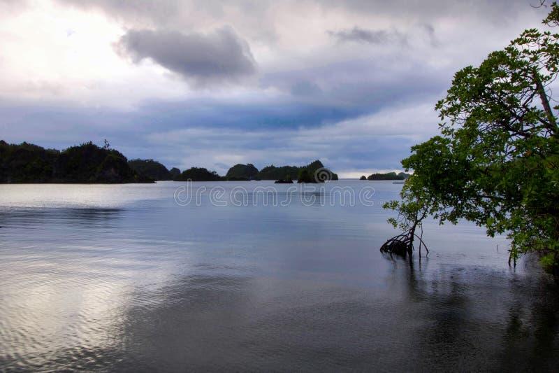 Typisch zeegezicht vroege ochtend op piaynemoeiland royalty-vrije stock afbeeldingen