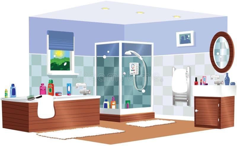 Typische badkamers royalty-vrije illustratie