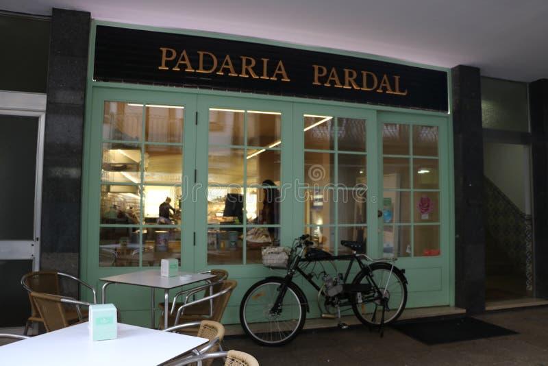 Typische Bakkerij in Portugal stock afbeelding