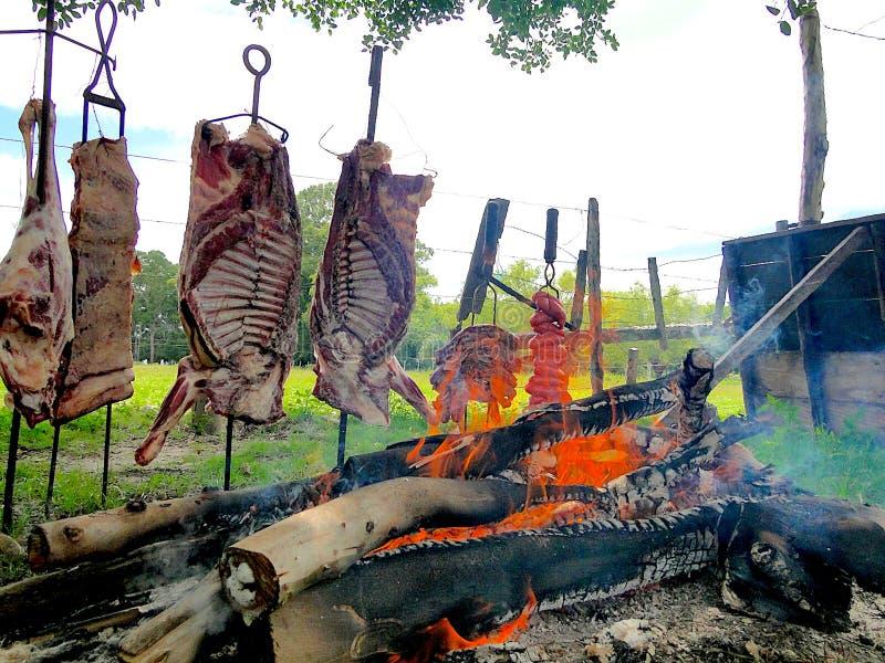 Typische barbecue van het zuiden van Brazilië royalty-vrije stock foto