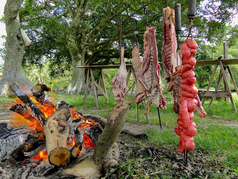 Typische barbecue van het zuiden van Brazilië stock fotografie