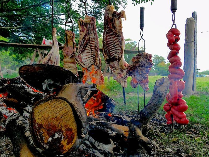 Typische barbecue van het zuiden van Brazilië stock afbeelding