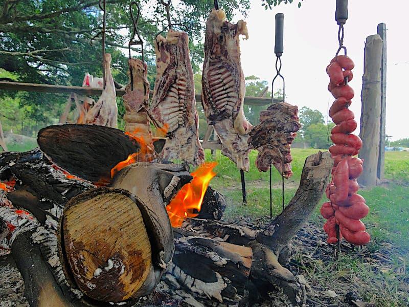 Typische barbecue van het zuiden van Brazilië royalty-vrije stock afbeeldingen