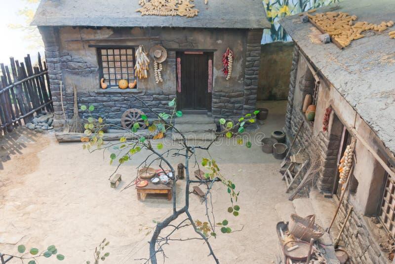 Typische Chinese landelijke huisvestingsscène royalty-vrije stock foto