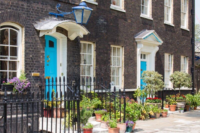 Typische Engelse Huizen royalty-vrije stock foto's