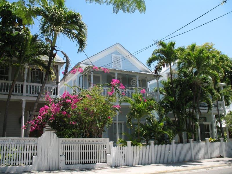 Typische Hauptarchitektur Key West Florida lizenzfreies stockbild